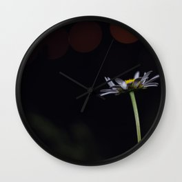 Flowers by night #3 Wall Clock
