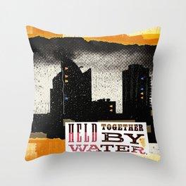 Urban Teardrops [483] Throw Pillow