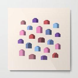 Abstract House Metal Print