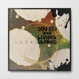 Your Cells are Living Libraries Metal Print