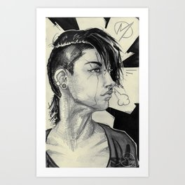 003 Astrid Art Print