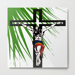 The Holy Week Christs Journey To The Cross Metal Print