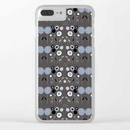 Topiary Silver Clear iPhone Case