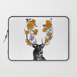The Stag and Roses   Orange Laptop Sleeve