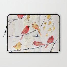Winter Song 4 - Cardinal Birds Laptop Sleeve