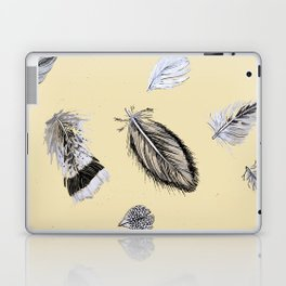Creamy feathers Laptop & iPad Skin