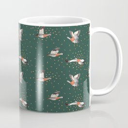 Hand painted ducks flying in autumn Coffee Mug