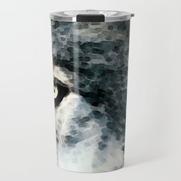 Wolf Art - Timber by Sharon Cummings Travel Mug