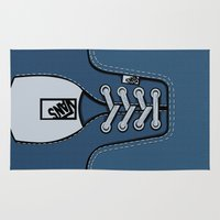 vans Area & Throw Rugs featuring blue Vans shoes iPhone 4 4s 5 5s 5c, ipod, ipad, pillow case and tshirt by Three Second
