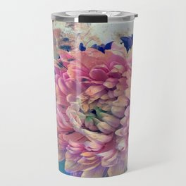 Vivid Blue and Pink Travel Mug