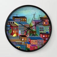 three of the possessed Wall Clocks featuring Three by Valeriya Volkova