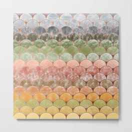 Watercolor art decó pattern Metal Print