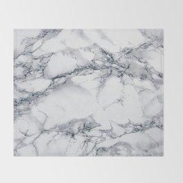 Marble - Blue Throw Blanket
