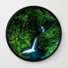 Jungle Waterfall Wall Clock