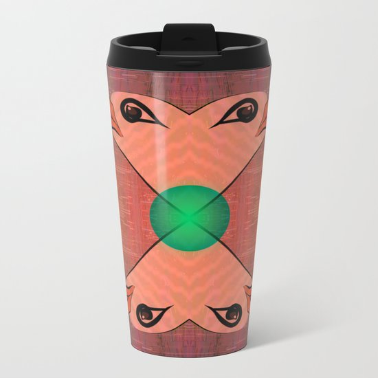 Green Kiss / Love / Pattern 12-01-17 Metal Travel Mug