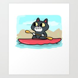 Kayak Canoe Canoe Gift Canoes kayaker Art Print