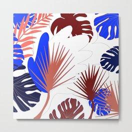 Naturshka 103 Palm Exotic flowers leaves vegetal nature Metal Print
