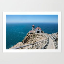 Point Reyes Lighthouse on the Pacific Ocean Art Print
