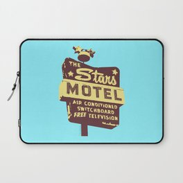 Seeing Stars ... Motel ... (Blue Background) Laptop Sleeve