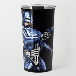 Robocop Pixel Art Travel Mug