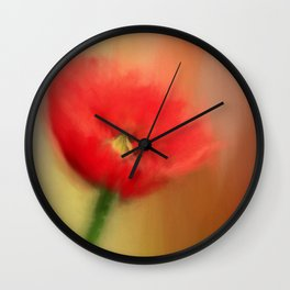 Poppy Elegance Wall Clock