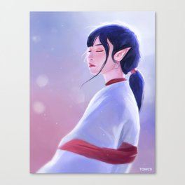 Glowing Elf Lady Canvas Print