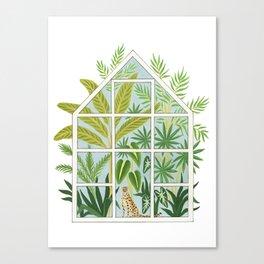 jungle greenhouse Canvas Print