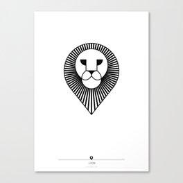 animal PICTOGRAMS vol. 4 - LIONS Canvas Print