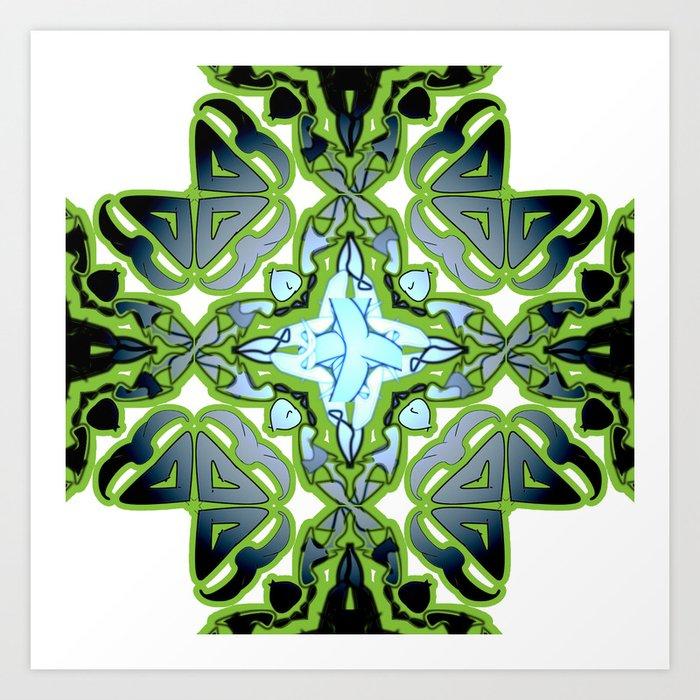 Neon Green Abstract Patterns Background Art Print By Rainbowchildcreation