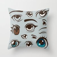 anime Throw Pillows featuring Anime by Darish