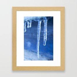 Blue Icicles  Framed Art Print