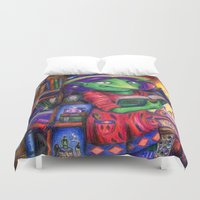 library Duvet Covers featuring The Library by Lucy Train