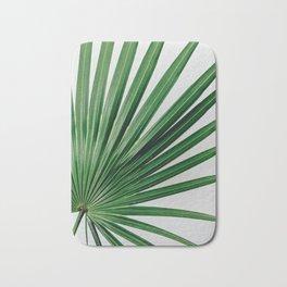 Palm Leaf Detail Bath Mat