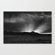 Sunlight Over the Colorado Rockies Canvas Print