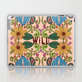 Bohemian Floral Peach version Laptop & iPad Skin