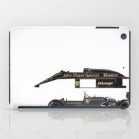 senna iPad Cases featuring Ayrton Senna, Lotus 98T-Renault, 1986 by Ricardo Santos