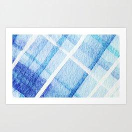 Watercolor Blues Art Print