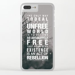 Rebellion Clear iPhone Case