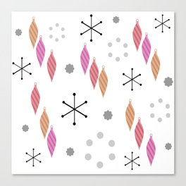 Mid Century Modern Winter Canvas Print