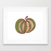pumpkin Framed Art Prints featuring Pumpkin by Laura Maxwell