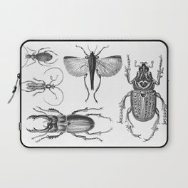 Vintage Beetle black and white drawing Laptop Sleeve