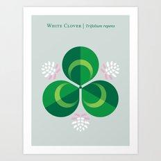 White Clover Art Print