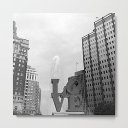 Philaelphia Love Park Metal Print