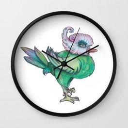 busy strutting bird Wall Clock