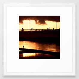 Le jour d'or Framed Art Print