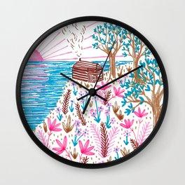 Cliff Top Cabin Wall Clock