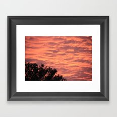 Burning Sunrise Framed Art Print
