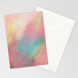 Abstract painting - Serenity in Solitude Stationery Cards