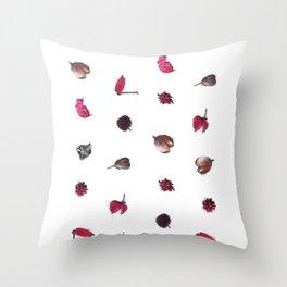 Red Potpourri Throw Pillow