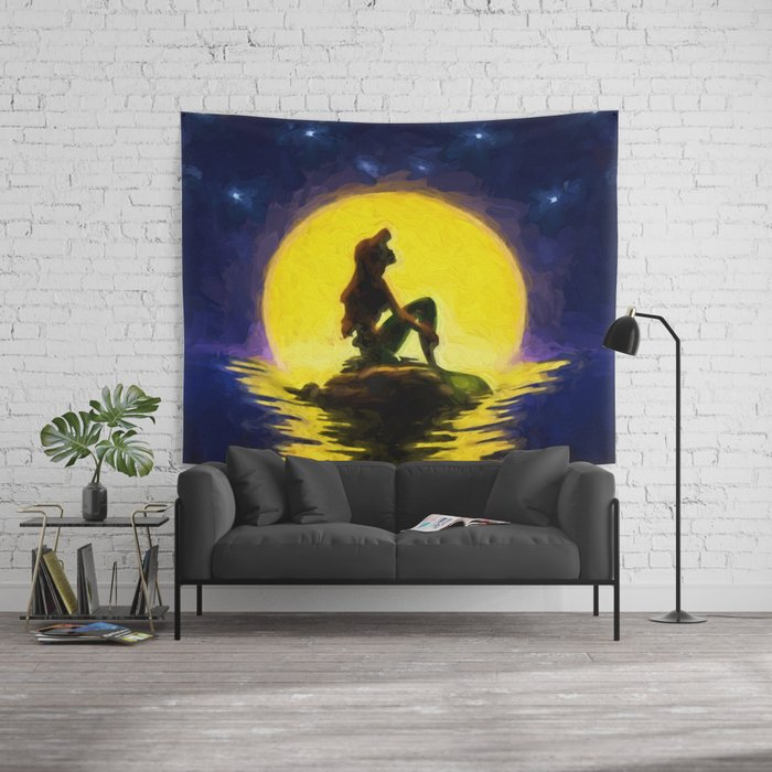 Little Mermaid Wall Tapestry by disprints | Society6